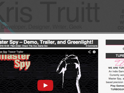Kris Truitt: Web Developer, Designer, Writer, Geek