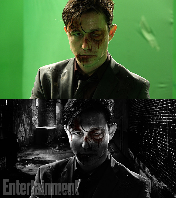 Before and after shot from Sin City: A Dame to Kill For. Photo from Entertainment Weekly.