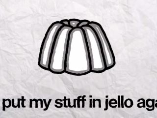 Jim Puts Dwights' Stuff in Jello