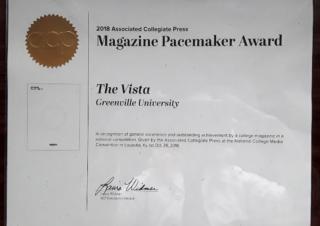 the VISTA wins a 2018 Pacemaker! #acpress